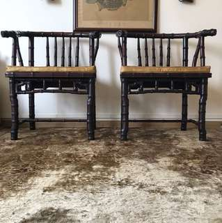 Antique Rosewood Chairs (set of 2)