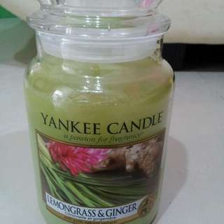 Yankee Candle Lemon grass and ginger flavour large size 623g