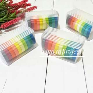 Rainbow Waxed Paper Tape Mini