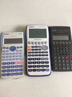 Graphic calculator + 2 scientific calculators
