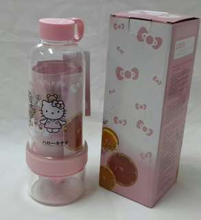 CITRUS ZINGER JUICER WATER INFUSER BOTTLE HELLO KITTY - KOREA - B25-1