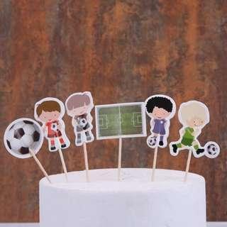 Football Cupcake Topper