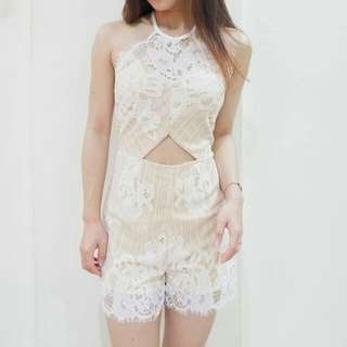 Sexy Lace Jumpsuit ( white )
