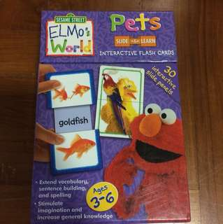 Elmo pets Flashcards