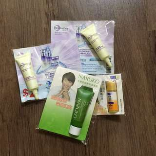 Various Brand Skincare Samples