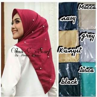 Hijab square mutiara