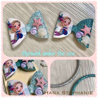 Lovely Handmade Mermaid Hair Bow