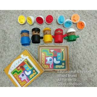 Educational toys in bundle