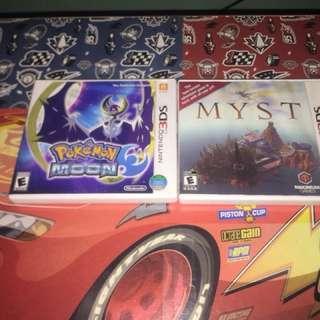 Game bundle Pokemon Moon & MYST