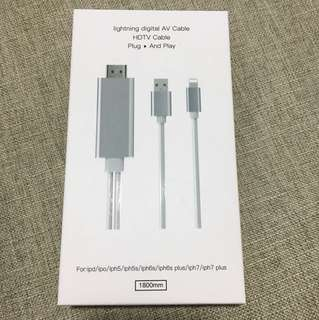Lightning digital AV cable HDTV cable for iPhone iPad