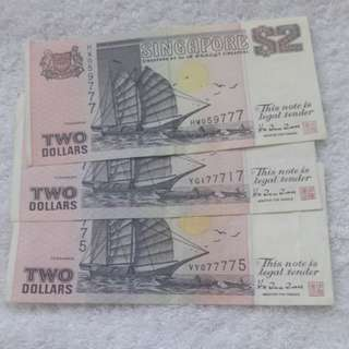 $2 ship note