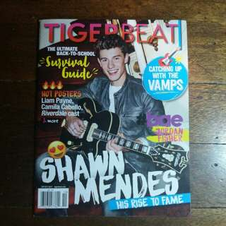 Shawn Mendes | Tigerbeat Magazine Sept/Oct 2017