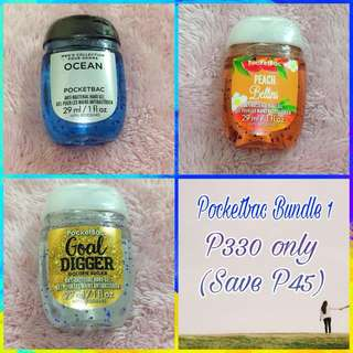 Bath and Body Pocketbac Bundle 1 - 3pcs for P330 - Save P45
