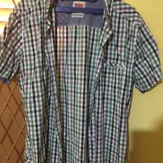 Baju Kemeja Lengan Pendek Pria Levis Original