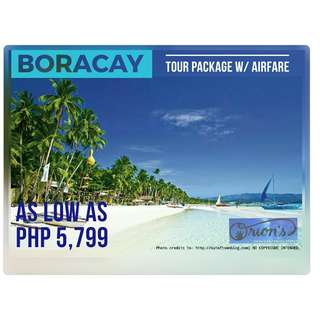 BORACAY WITH AIRFARE FOR AS LOW AS ₱ 5,799/PAX - NO HIDDEN CHARGES!!