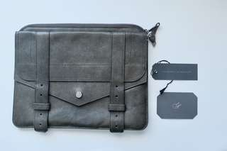 AUTHENTIC PROENZA SCHOULER  | Khaki Green PS1 leather clutch / iPad case