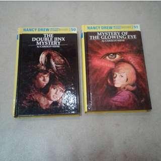 Nancy Drew Mystery Stories 50 and 51 by Carolyn Keene Hardbound