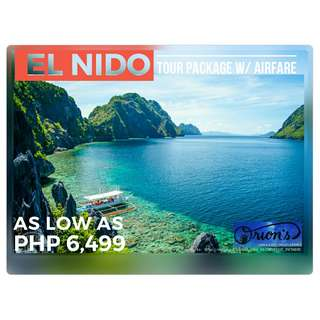 EL NIDO WITH AIRFARE FOR AS LOW AS ₱ 6,499/PAX - NO HIDDEN CHARGES!!