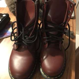 Dr. Martens Cherry Red Mid-cut Boots