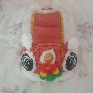 CNY lion dance pet costume