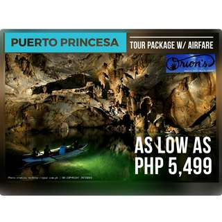 PUERTO PRINCESA WITH AIRFARE FOR AS LOW AS ₱ 5,499/PAX - NO HIDDEN CHARGES!!