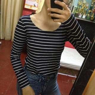 Stripe Long Sleeve // Baju Salur Garis Panjang