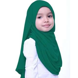 Aira Kamilia Yaya Hijab in emerald green