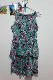 Green Abstract Dress