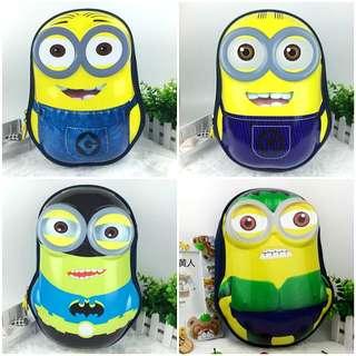 <P.O> Cute Minion Backpack Bag Kids Around 75~110cm