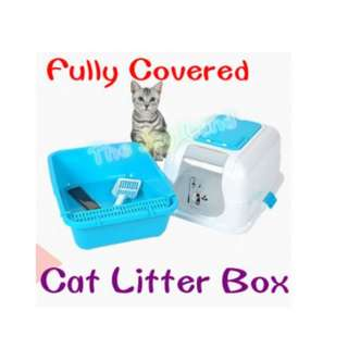 Litter Box - Fully Covered, Scoop & Sieve included
