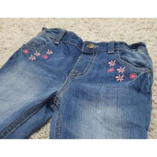 Preloved Matalan jeans with floral detailings
