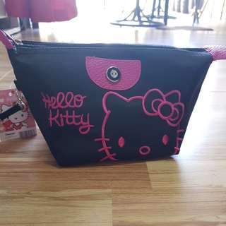 New Black Hello Kitty Cosmetic Pouch