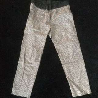 Leopard printed pants Celana Panjang