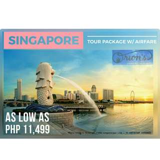 EXPERIENCE SINGAPORE FOR AS LOW AS ₱ 11,499/PAX - NO HIDDEN CHARGES!!