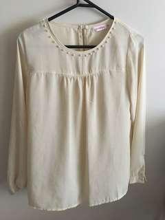 Off cream shirt