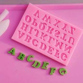 Letters molder silicon (big,small)