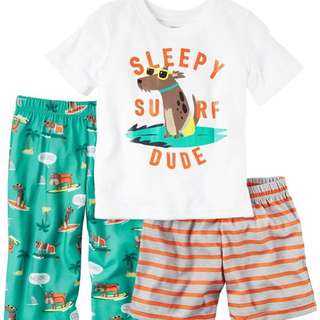 [FreeMail] 3T Carter's Boy Tee,PJ/ShortsSet $18