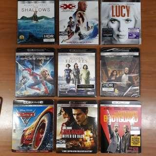 USA Blu Ray 4K UHD Bundle D - choose any 4 titles