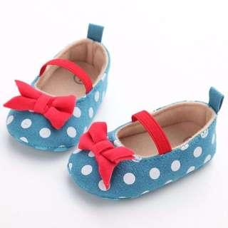 🐰Instock - polkadot shoes, baby infant toddler girl children sweet kid happy