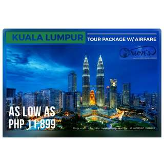 EXPERIENCE KUALA LUMPUR FOR AS LOW AS ₱ 11,899/PAX - NO HIDDEN CHARGES!!