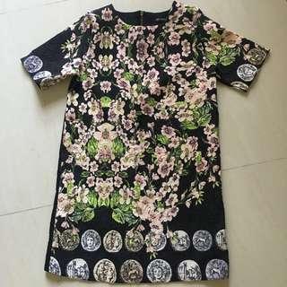 Black floral dress (new)