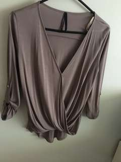 Taupe cross over top