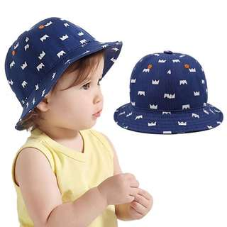 🐰Instock - blue printed hat, baby infant toddler girl boy children sweet kid happy