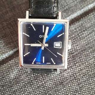 Oris Shiny Blue Dial Wrist Watch
