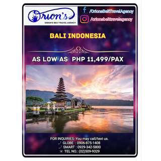 BALI INDONESIA TOUR PACKAGE - NO HIDDEN CHARGES!