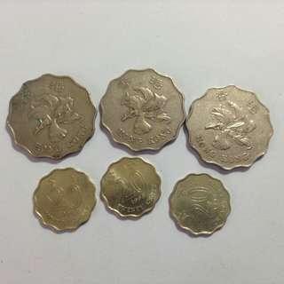Hong Kong Flower Dollar Coins