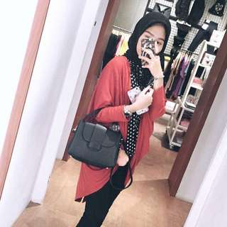 REPRICE Zara mini city bag with pompom