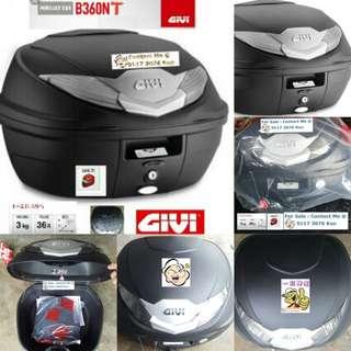 1702---GIVI BOX B360 nt WHITE Reflection For Sale !!!Brand New (YAMAHA, Honda, SUZUKI, ETC)