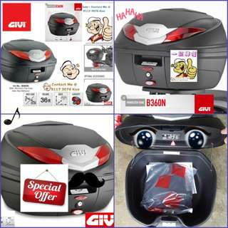 1702---GIVI BOX B360 n REDReflection For Sale !!!Brand New (YAMAHA, Honda, SUZUKI, ETC)