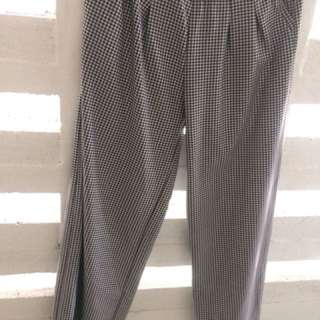 Kulot pants black and white